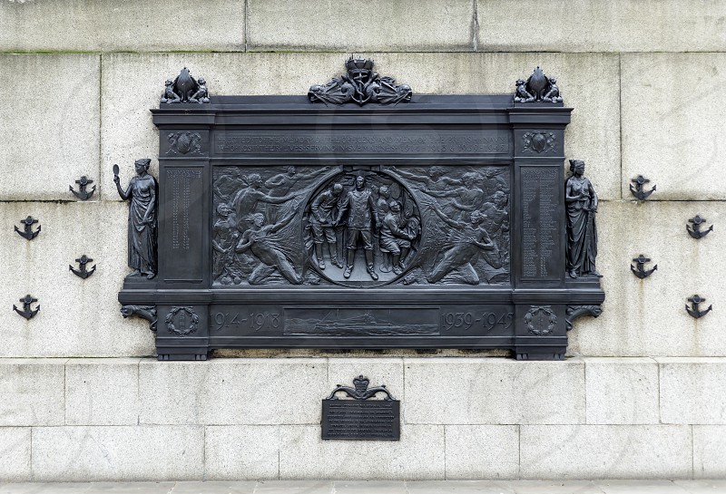 LONDON UK - MARCH 11 : National Submariner's War Memorial on Thames Embankment  in London on March 11 2019 photo
