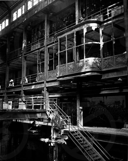 gray scale building photo photo