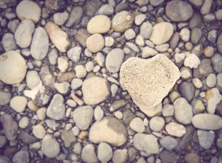 Heart shaped rock photo