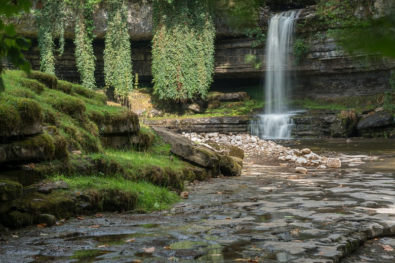 View of Askrigg Waterfall in the Yorkshire Dales National Park photo
