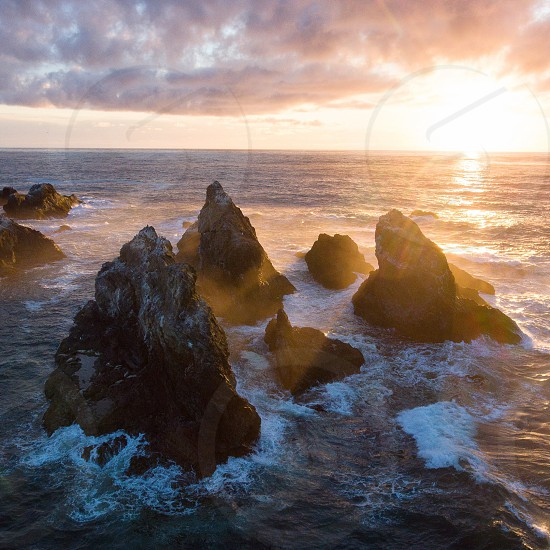 Facerock Bandon beach Oregon Coast photo