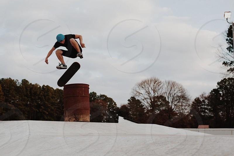 man skating photo