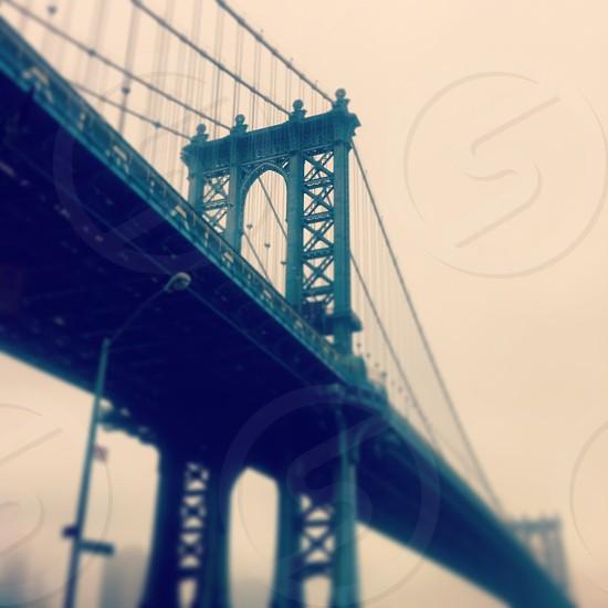 Manhattan Bridge in Fog photo