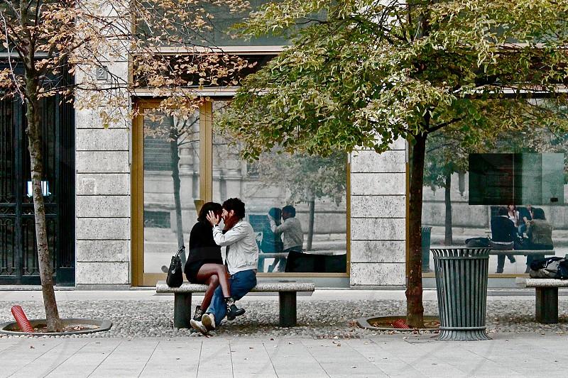 Love has no color in Milan Italy. photo