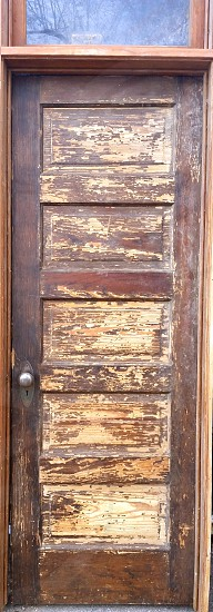 Antique wooden door photo