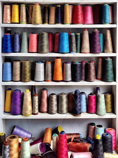 Thread spools multicolored  photo