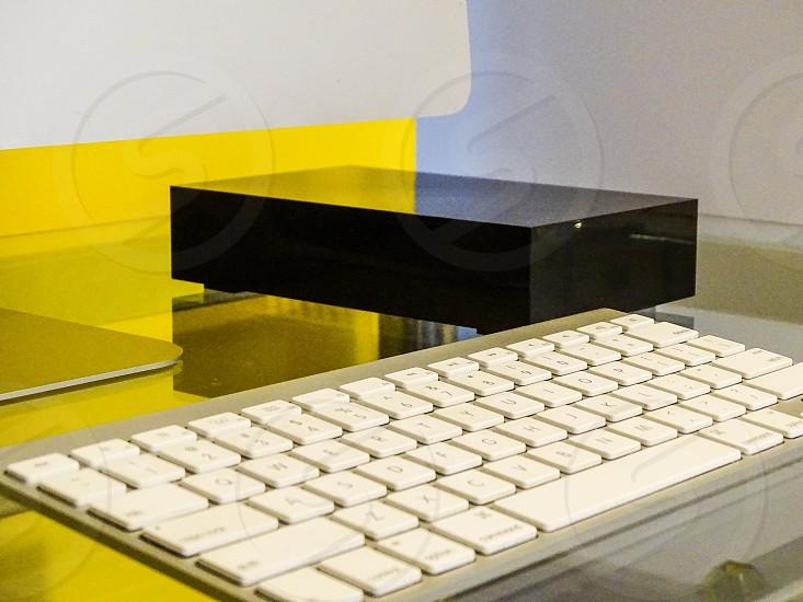 Photo of Hard Drive on Desk photo