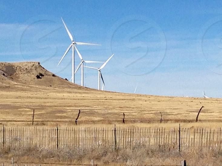 Wind farm wind turbine clean energy photo