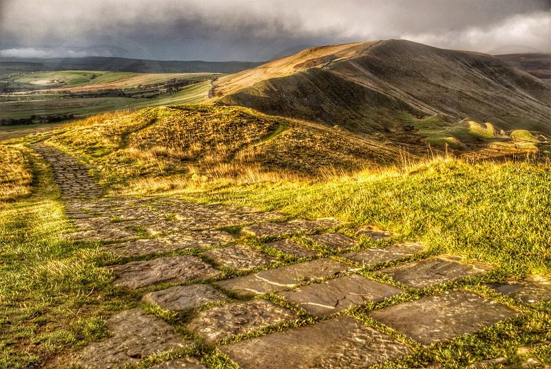 Rushup Edge Derbyshire. photo