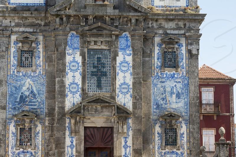the igreja de Santa clara in the old town of  ribeira in the city centre of Porto in Porugal in Europe. photo