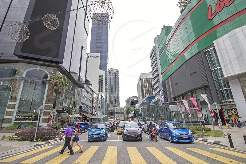 the famous bukit bintang shopping district in Kuala Lumpur photo