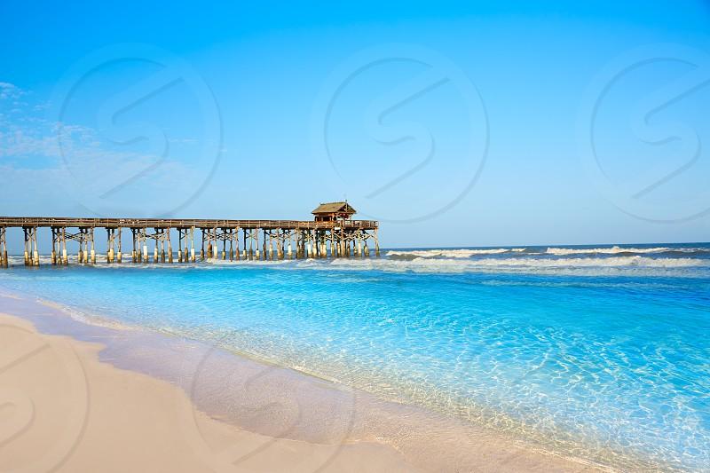 Cocoa Beach pier in Cape Canaveral of Florida near Orlando photo