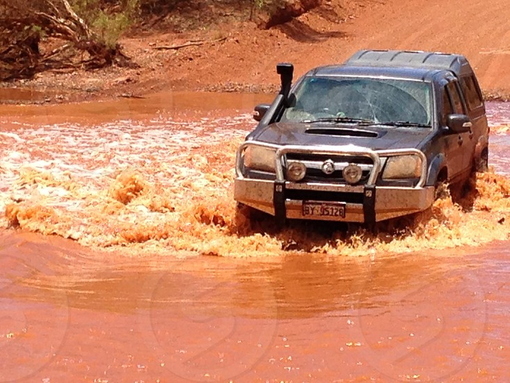Car wash in the outback photo