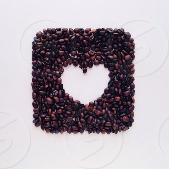 black coffee beans photo