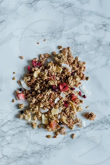 granola muesli oats clusters fruit photo