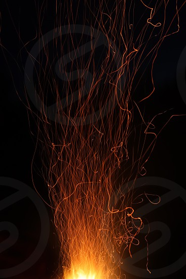 sparkles fire fireworks camp fire photo