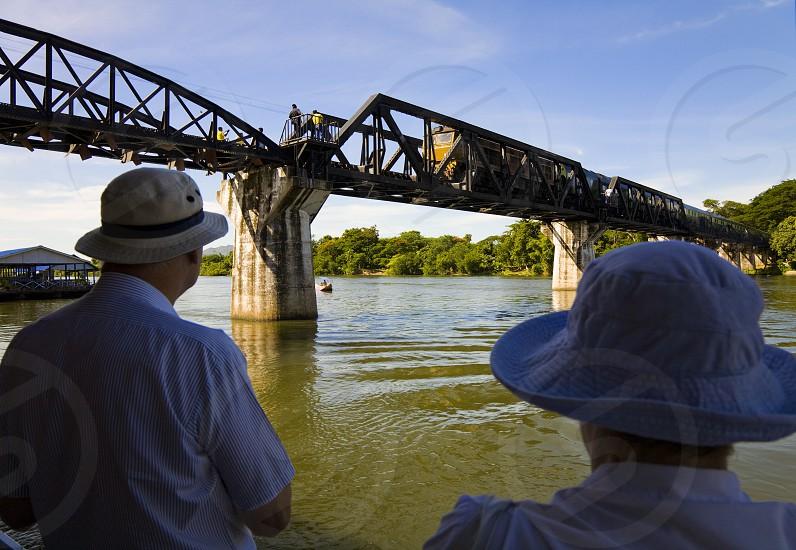 kwai river bridge in thailand photo