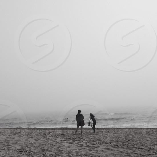 Foggy beach photo