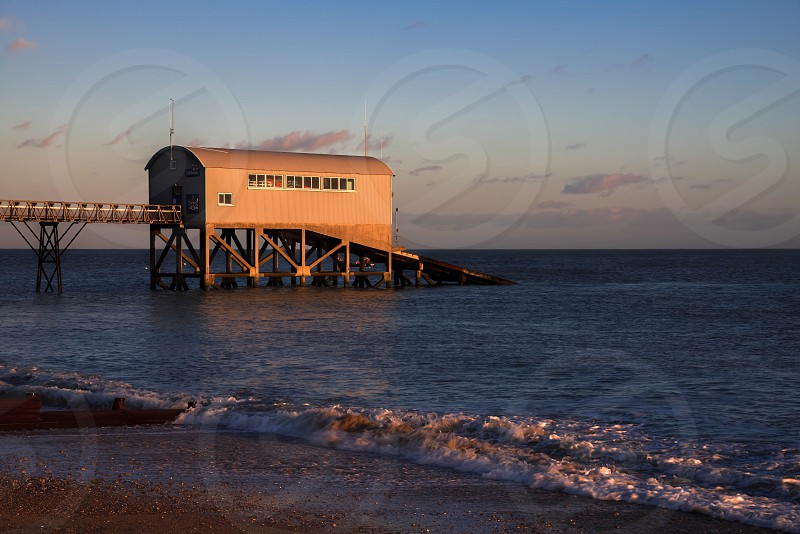Sunset at Selsey Bill photo