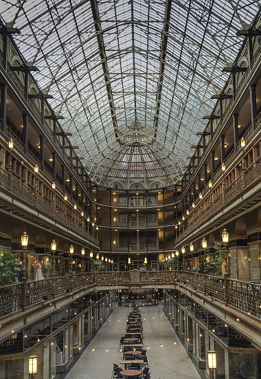 The historic Arcade in downtown Cleveland photo