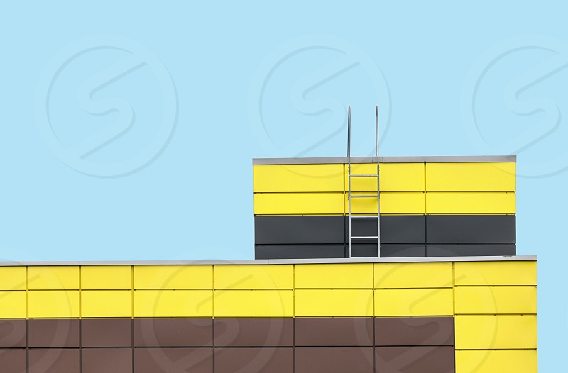 architecture building abstract facade exterior modern lines shape colors colorful photo