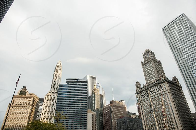 Skyline of large city photo