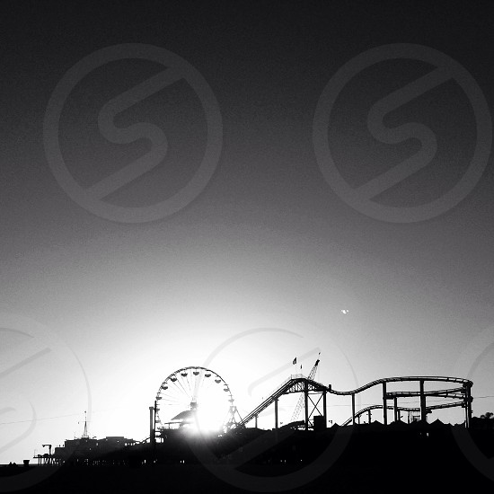 Santa Monica pier in all is glory. photo