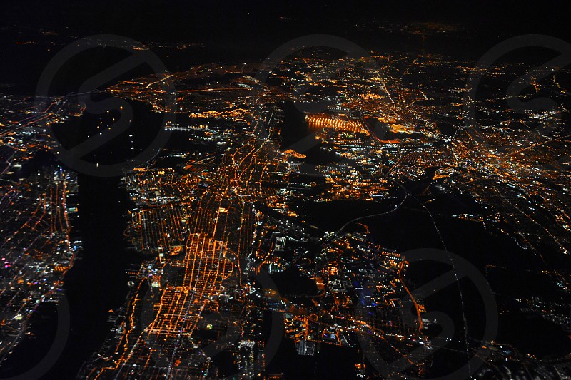 aerial photography of city lights during nighttime photo