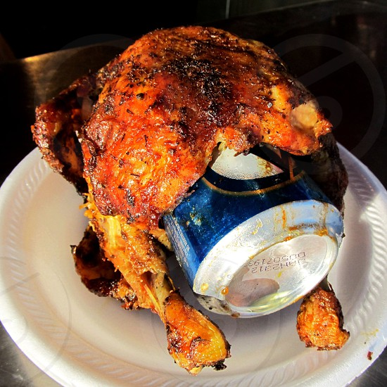 Beer can chicken photo