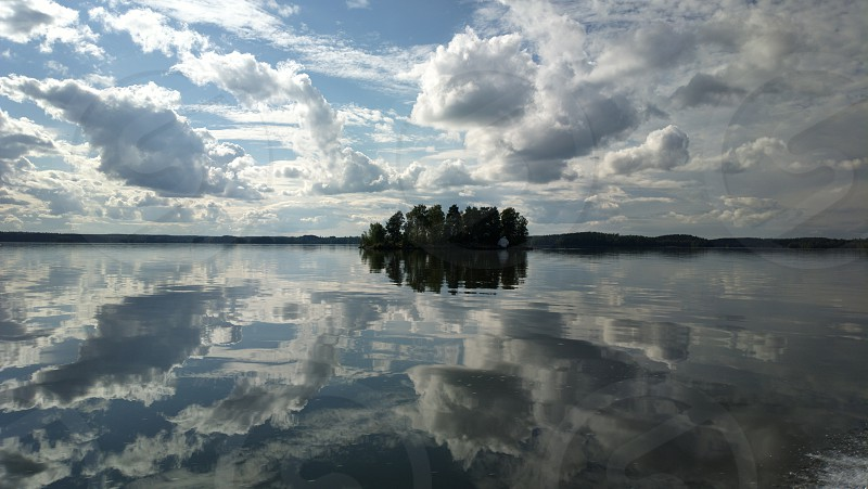 Lake Pyhäjärvi Tampere Finland. photo