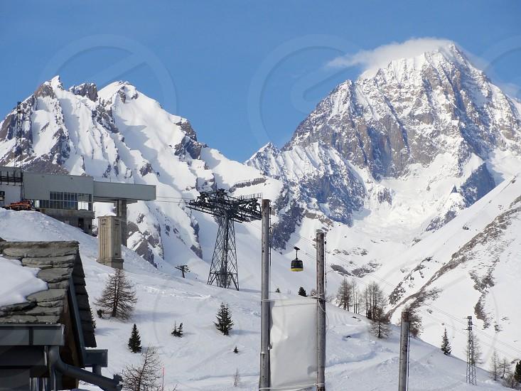 Ski lift at La Rosiere France photo