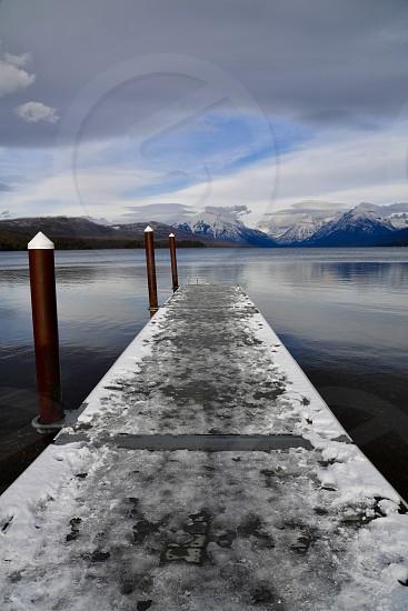 Lake McDonald in winter. photo