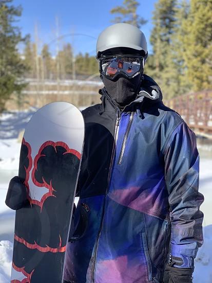 Goggles snow board snow resort snowboarder freedom stoic intense helmet face mask winter cold snowy seasons resort photo