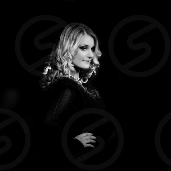 woman in black long sleeved shirt photo