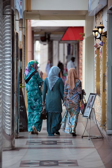 people shopping in the city centre in the city of Bandar seri Begawan in the country of Brunei Darussalam on Borneo in Southeastasia. photo