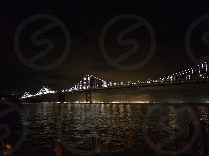 Night run along the waterfront photo