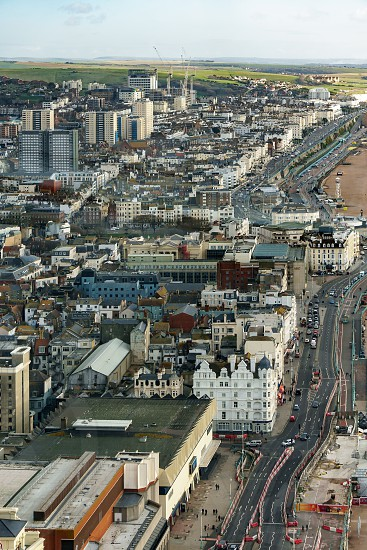 BRIGHTON EAST SUSSEX/UK - JANUARY 3 : View from the i360 capsule in Brighton East Sussex on January 3 2019. Unidentified people photo