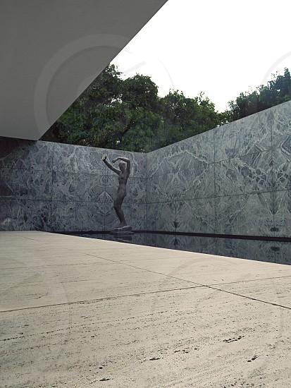 Barcelona Pavilion designed by Ludwig Mies van der Rohe.  Georg Kolbe's Alba Sculpture photo