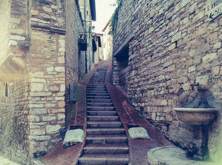 Italy footpath pathway stairway countryside photo