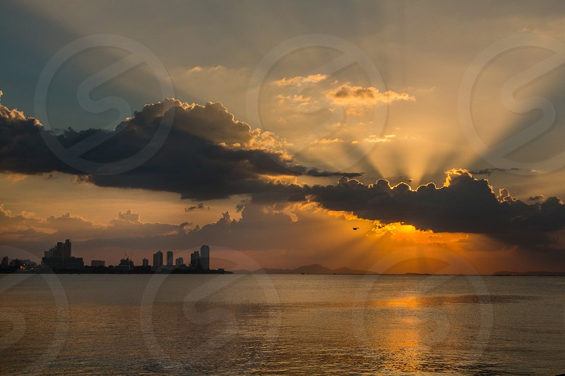 Sunset at Pattaya Thailand. photo