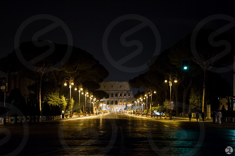 Road to the Colosseum.  photo