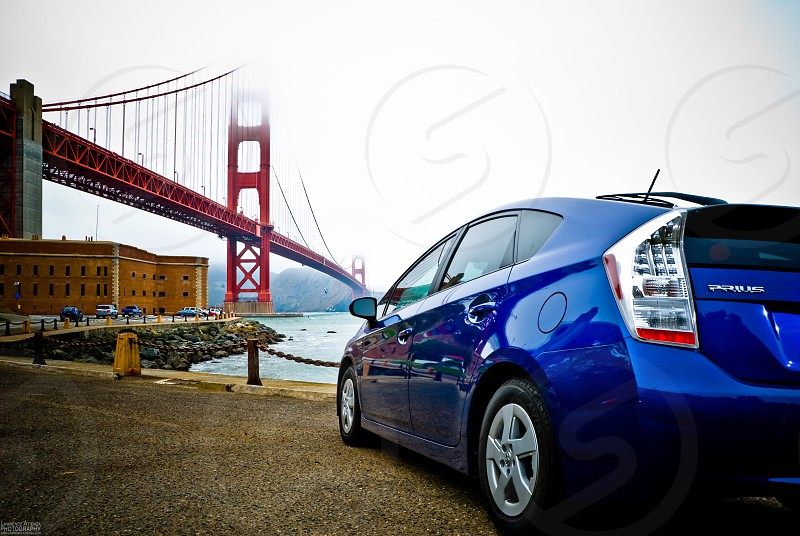 San Franciscogolden gate bridgePriusfamily vacationgreen travelersightseeing photo