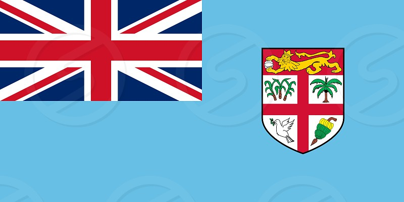 Official Large Flat Flag of Fiji Horizontal photo