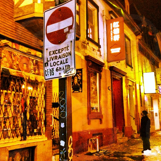 Street signs Montreal Quebec photo