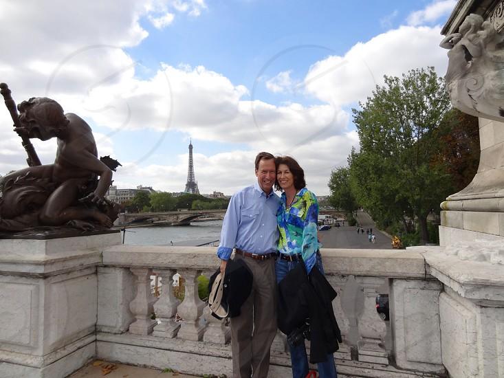 Couple in Paris photo