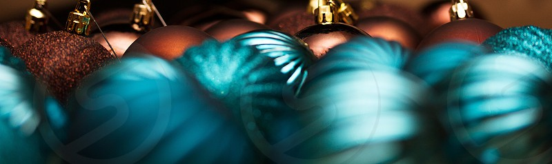 blue Christmas ball  photo