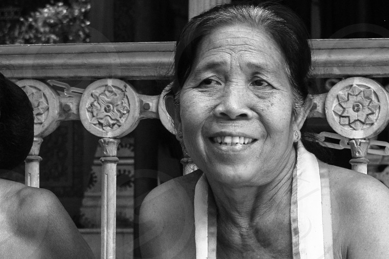 The Very Beautiful Old keraton Surakarta's servant in BW photo