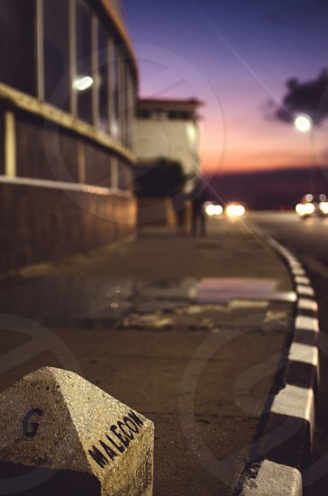 a reference point on the Malecon in Havana  Cuba photo