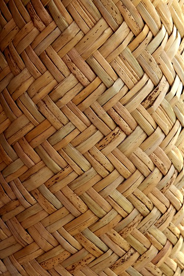 handcraft mexican cane basketry in vegetal texture photo
