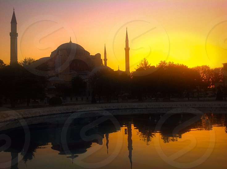 Oriental reflections in Istanbul at the sunrise photo